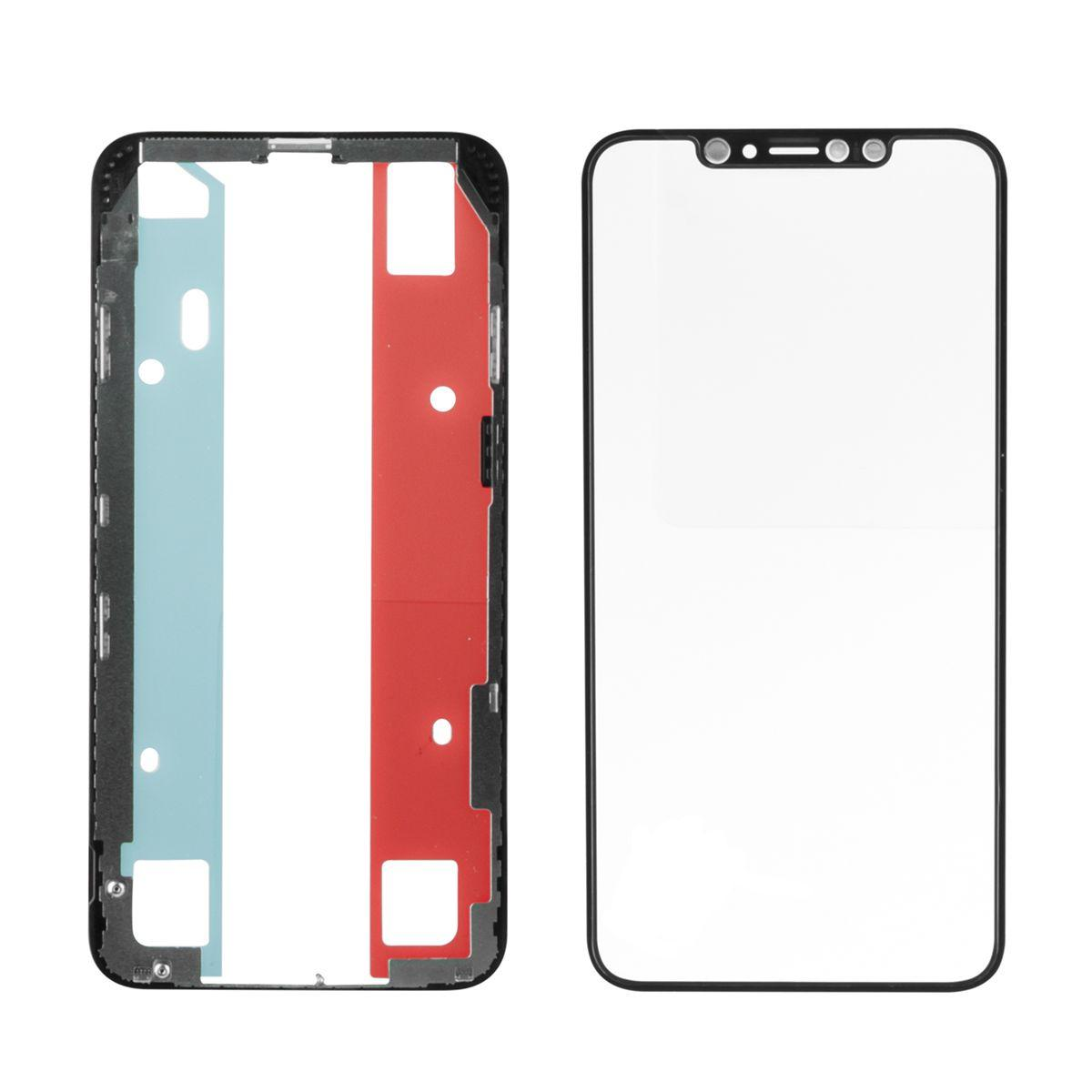 Стекло дисплей для iPhone XS Max (3 в 1) с рамкой и OCA пленкой, Black