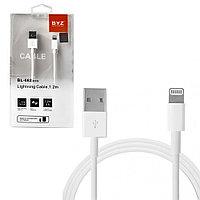 Кабель Apple Lightning BYZ BL-662 Fast Charging USB 2.0 1.2m White