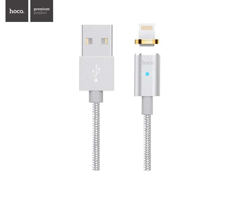Кабель Apple lightning Hoco U16 magnetic charging 1.2m Silver