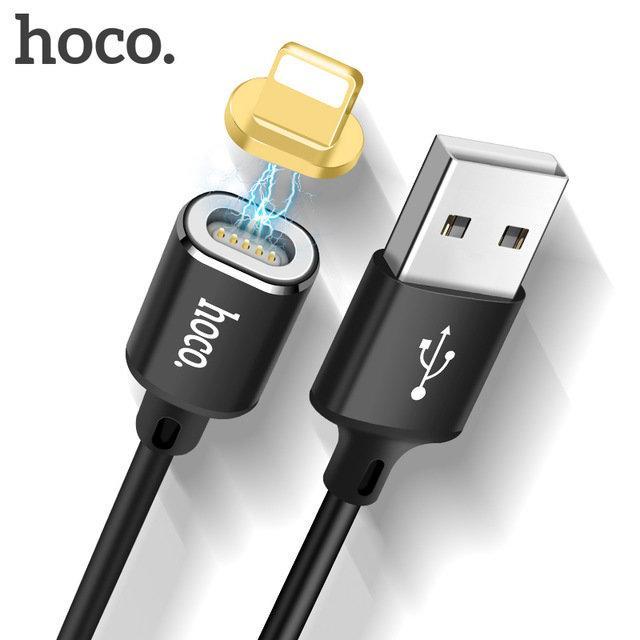 Кабель Apple lightning Hoco U28 magnetic adsorption 1m Black