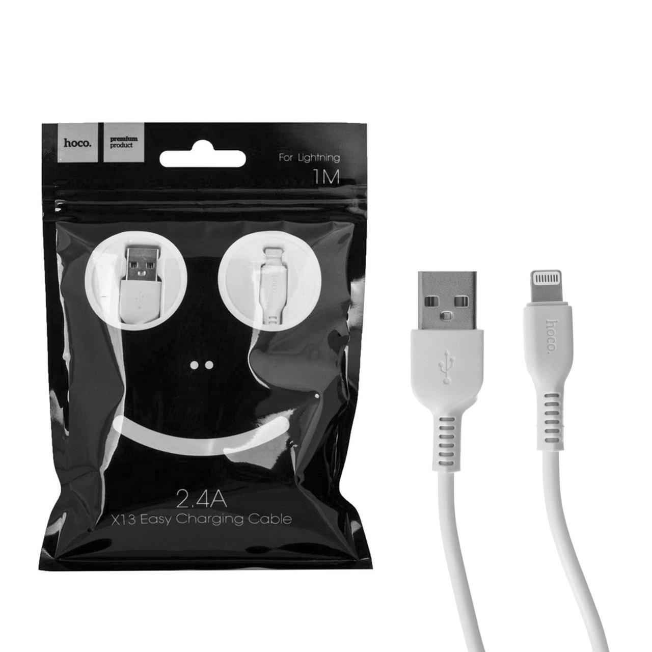 Кабель Apple lightning Hoco X13 Easy 1.0m White