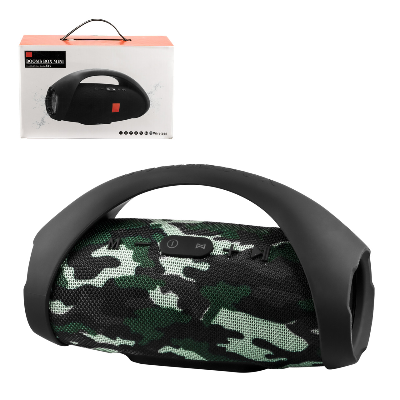 Портативная акустическая система Bluetooth Booms Box E-10, Camouflage