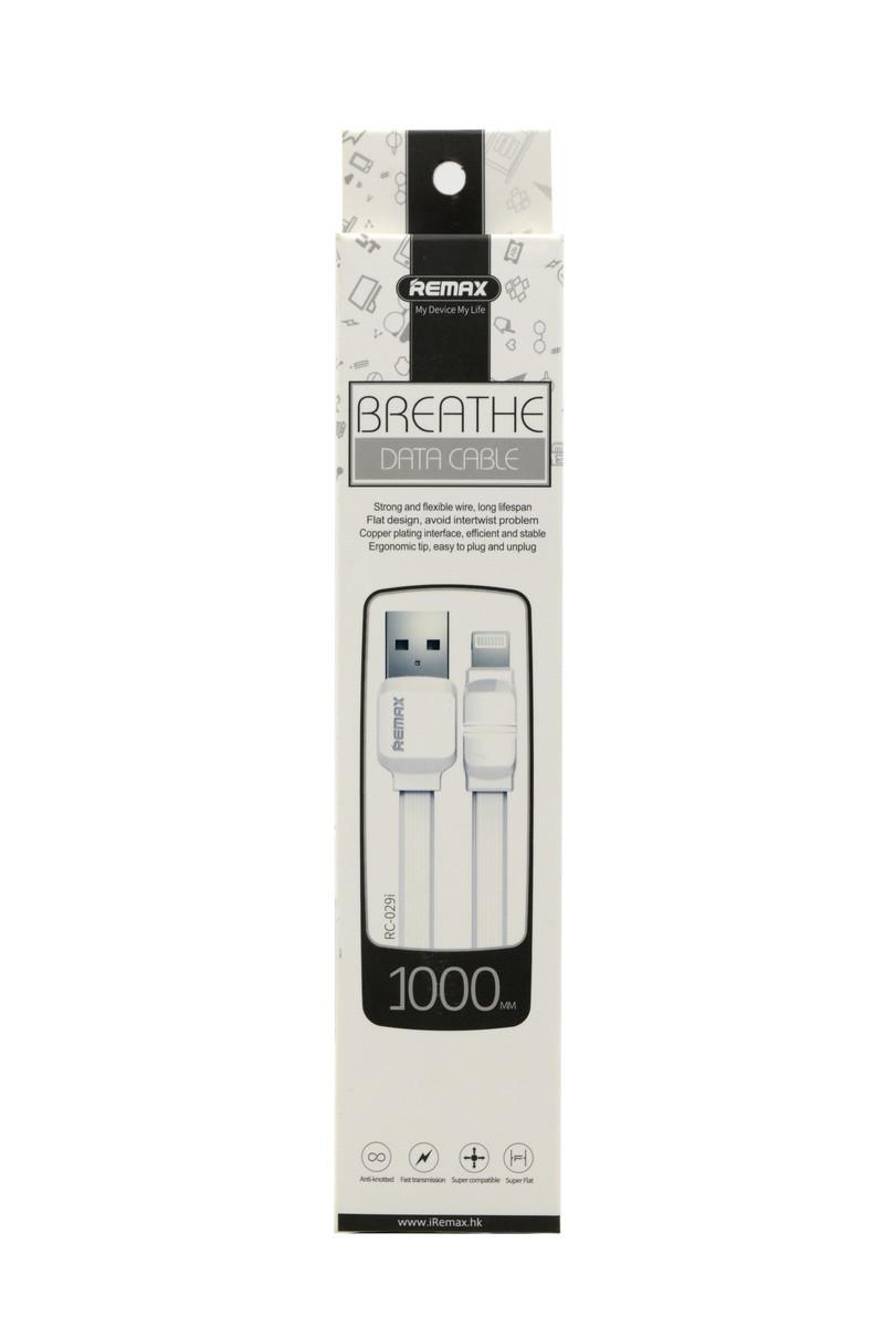 Кабель Apple lightning Remax RC-029i 1m White