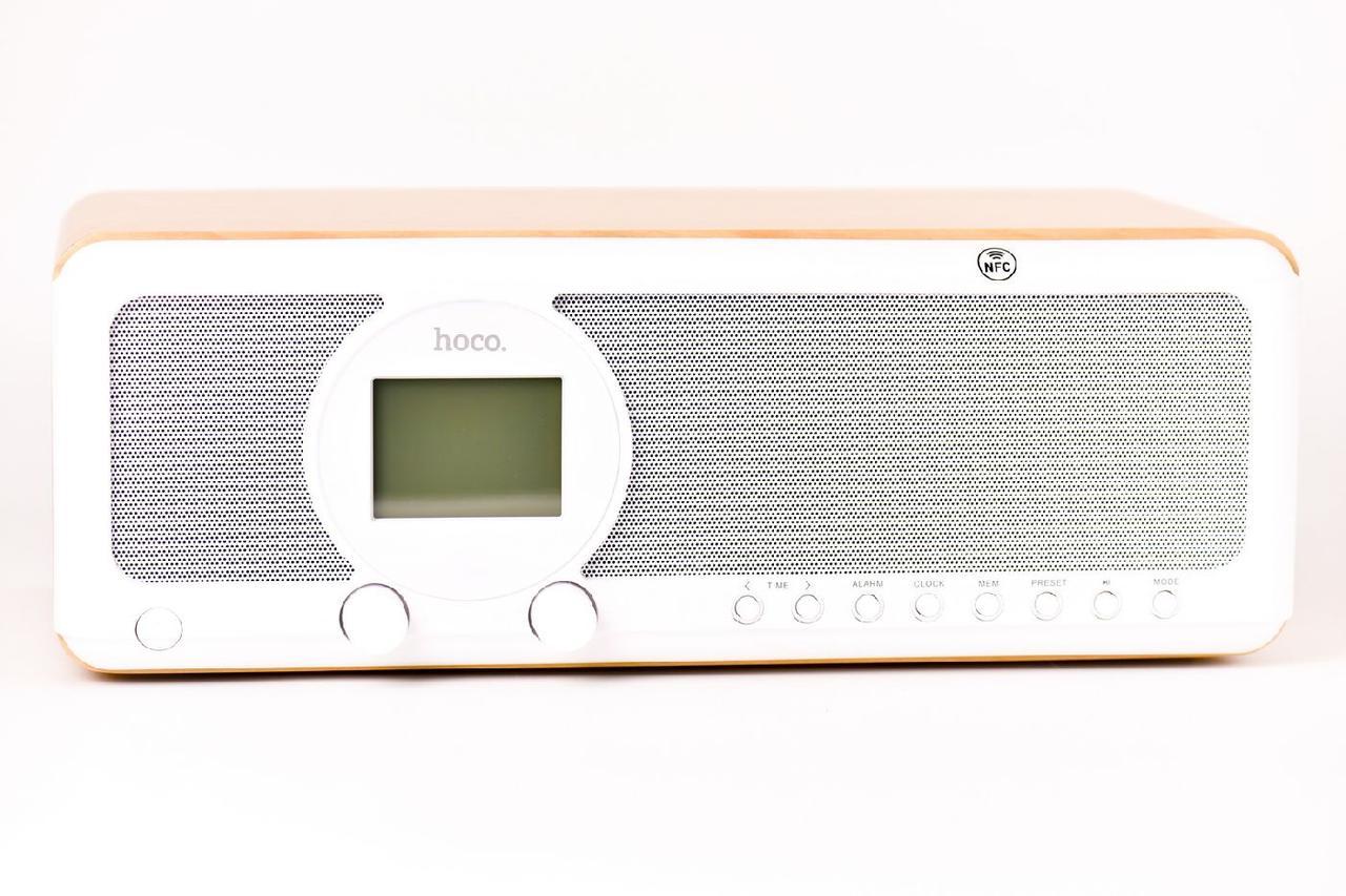 Портативная акустическая система Bluetooth Hoco BS12 Woodlen Beige/Black