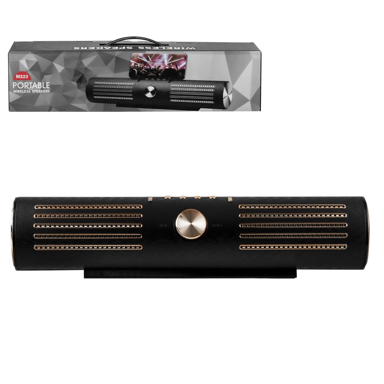 Портативная акустическая система Bluetooth M223, Black/Gold