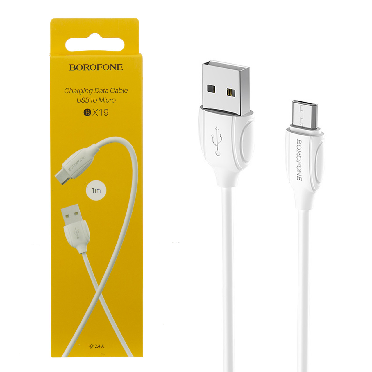 Кабель Micro USB Borofone BX19 1m, White