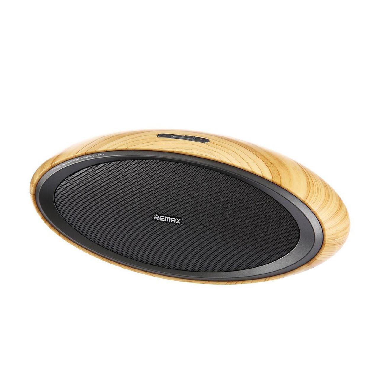 Портативная акустическая система Bluetooth Remax RB-H7 Wood Beige/Black