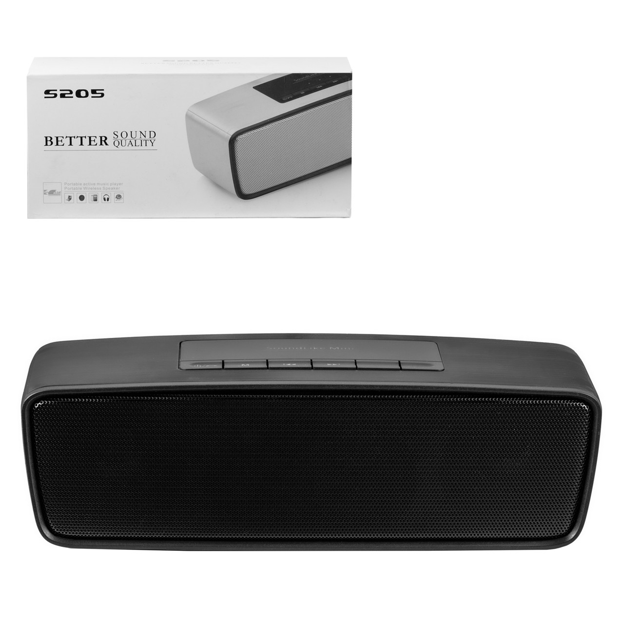 Портативная акустическая система Bluetooth S205, Black