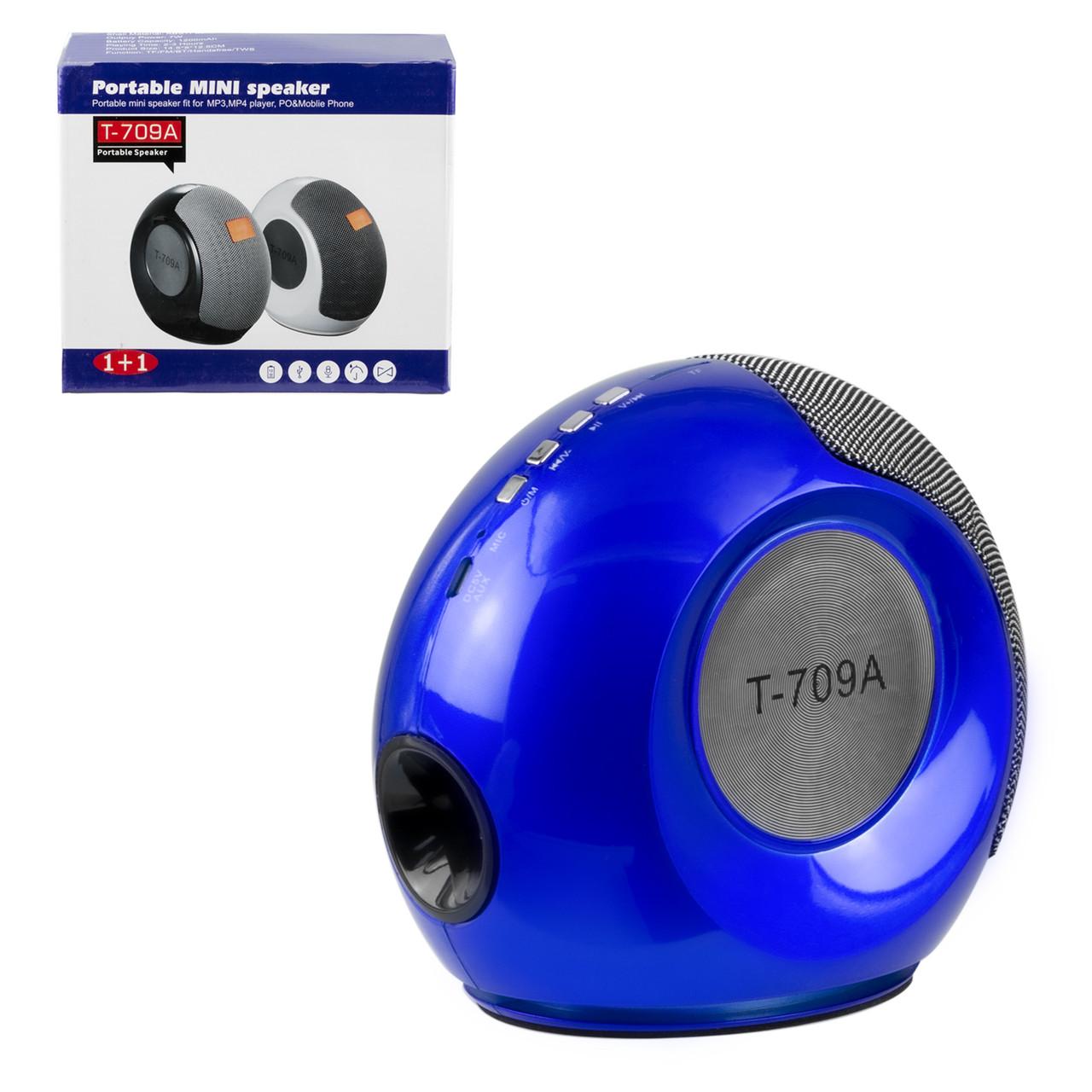 Портативная акустическая система Bluetooth T-709A, Blue