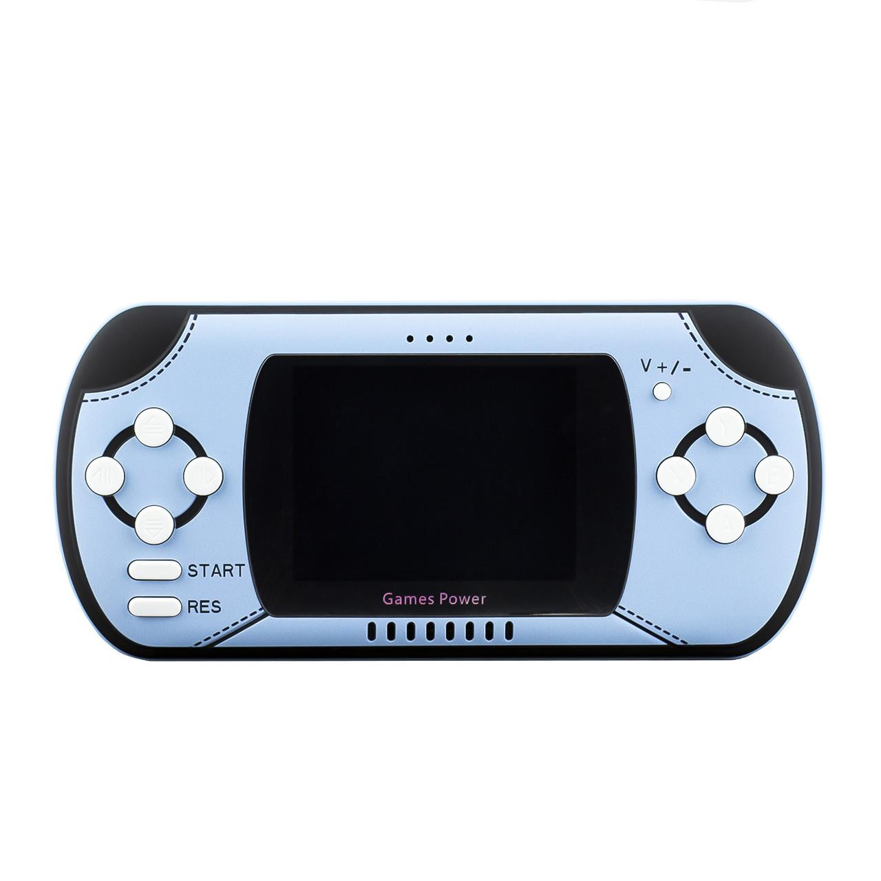 Портативная игровая консоль XGO DY-02B Power Bank 2 в 1 300 Games 10000mAh Blue/Black