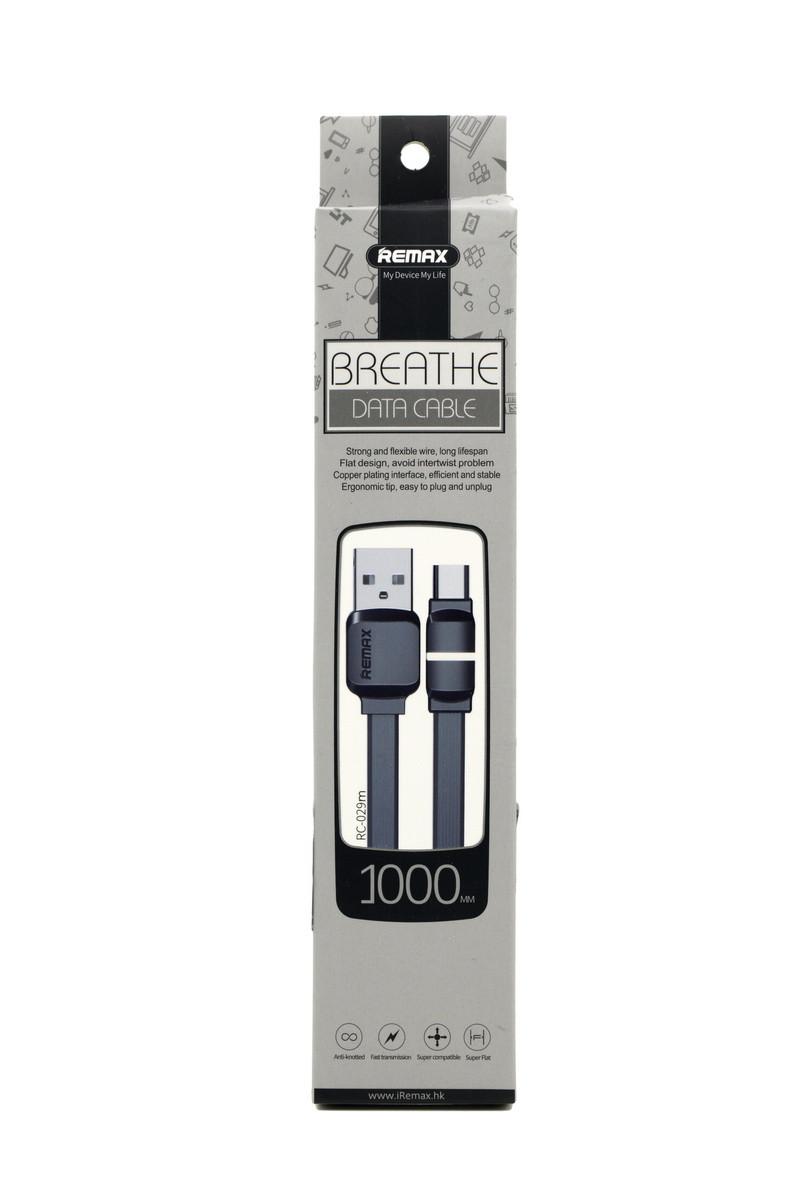 Кабель Micro USB Remax Breathe RC-029m 1m Black