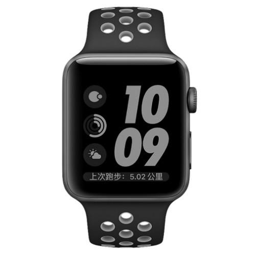 Ремешок For Apple Watch 38mm COTEetCI W12 WH5216-BK-GY Sport Band Black/Gray