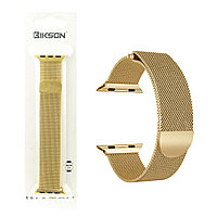 Ремешок For Apple Watch 38mm/40mm Bikson Magnetic Milanese Loop, Gold