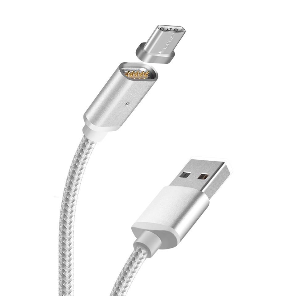 Кабель Type-C Hoco U16 magnetic charging 1.2m Silver