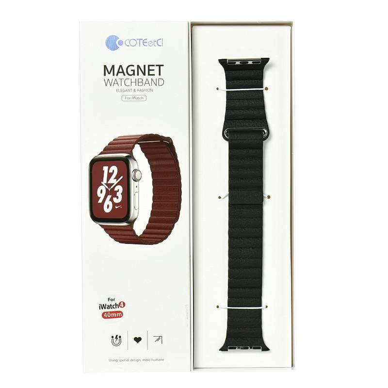 Ремешок For Apple Watch 38mm/40mm COTEetCI W7 WH5205-BK Magnet Black