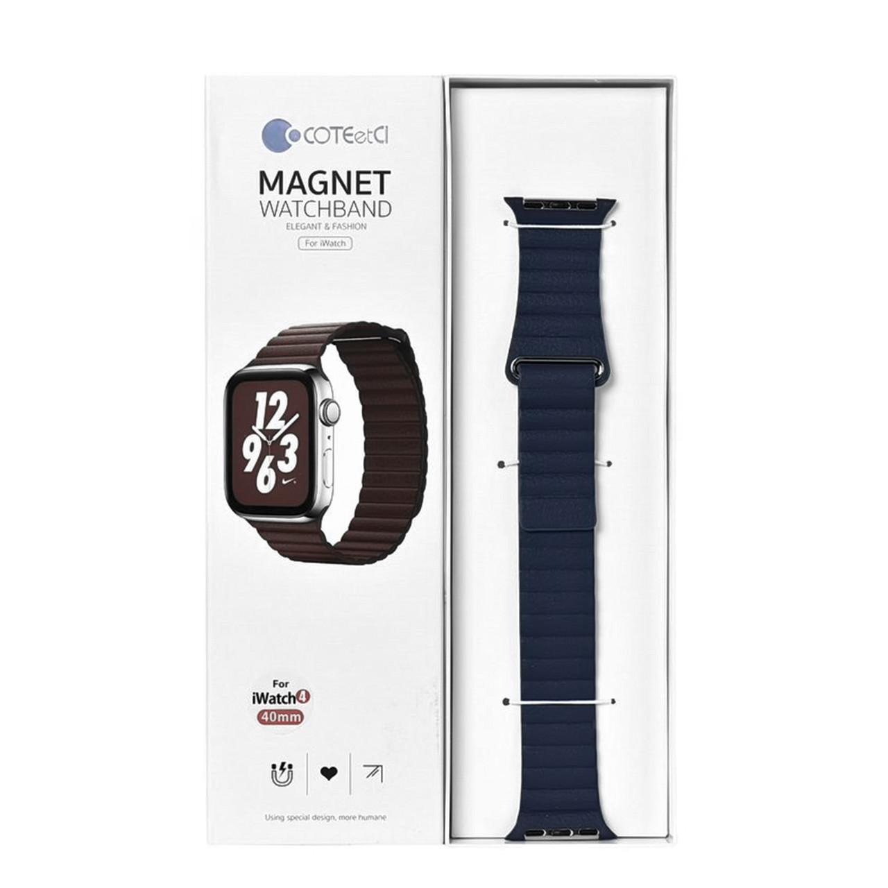 Ремешок For Apple Watch 38mm/40mm COTEetCI W7 WH5205-DB Magnet Dark Blue