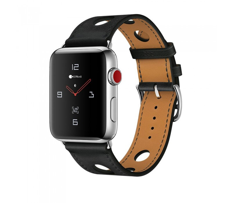 Ремешок For Apple Watch 42mm COTEetCI W15 WH5221-BK Perfect Design Leather Black