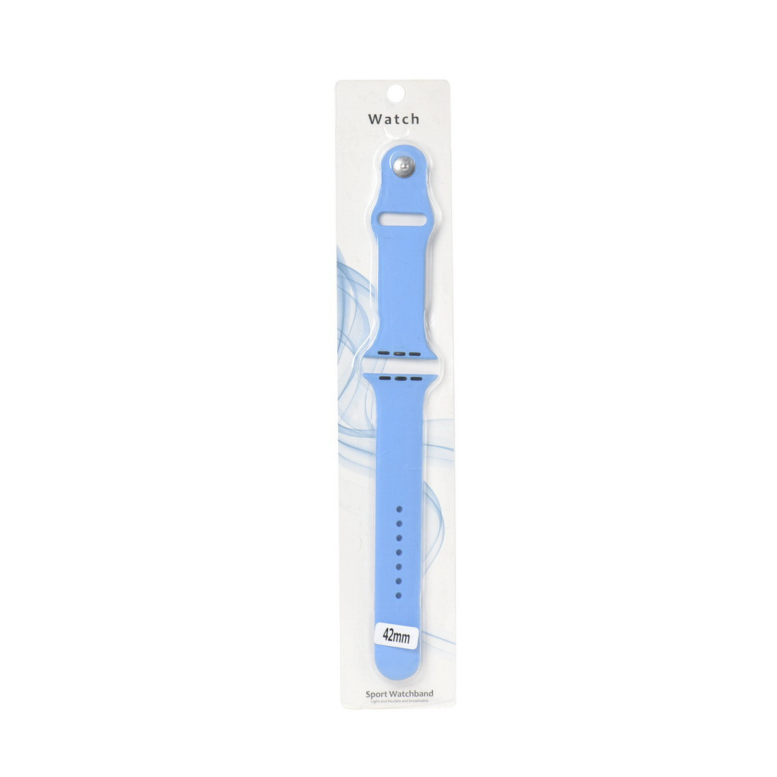 Ремешок For Apple Watch 42mm Sport Watchband Silicone Light Blue