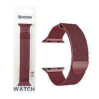 Ремешок For Apple Watch 42mm/44mm Bikson Magnetic Milanese Loop, Cherry