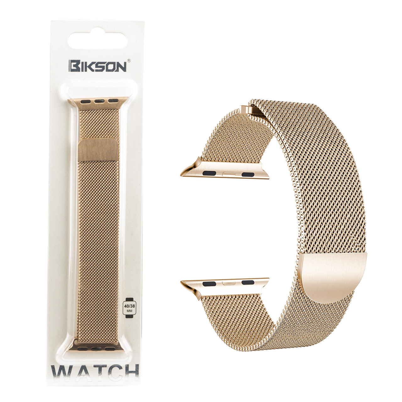 Ремешок For Apple Watch 42mm/44mm Bikson Magnetic Milanese Loop, Rose Gold
