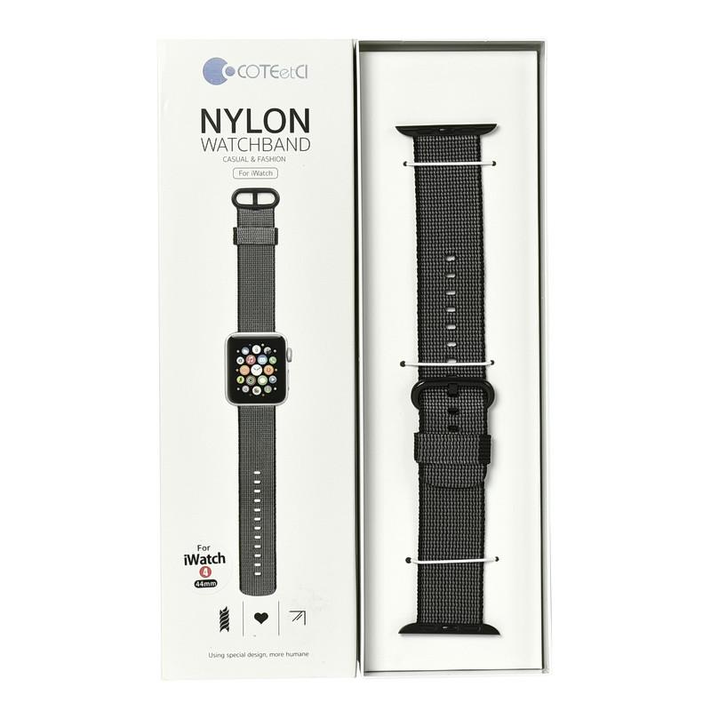 Ремешок For Apple Watch 42mm/44mm COTEetCI W11 WH5215-BK Nylon Black