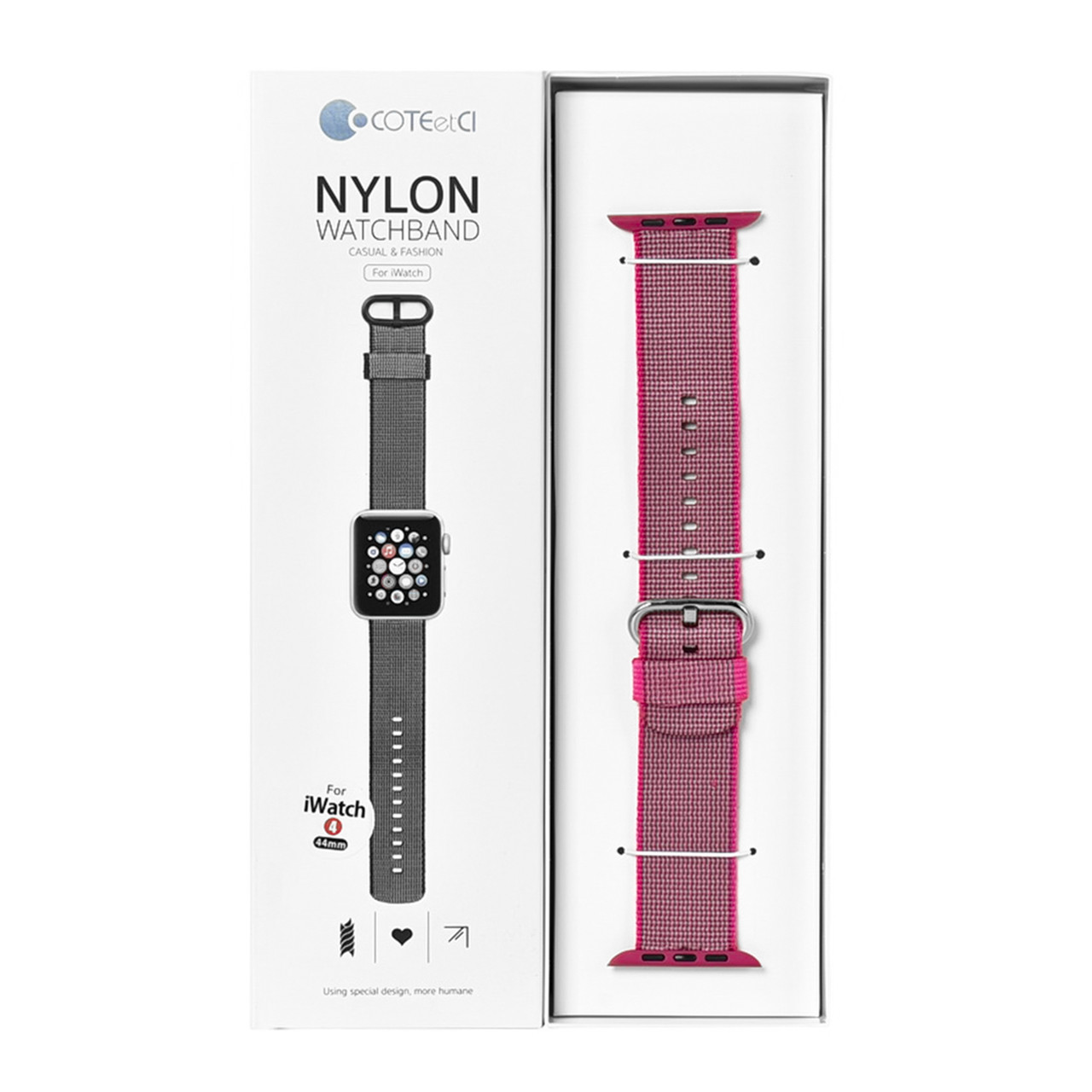 Ремешок For Apple Watch 42mm/44mm COTEetCI W11 WH5215-PK Nylon Pink