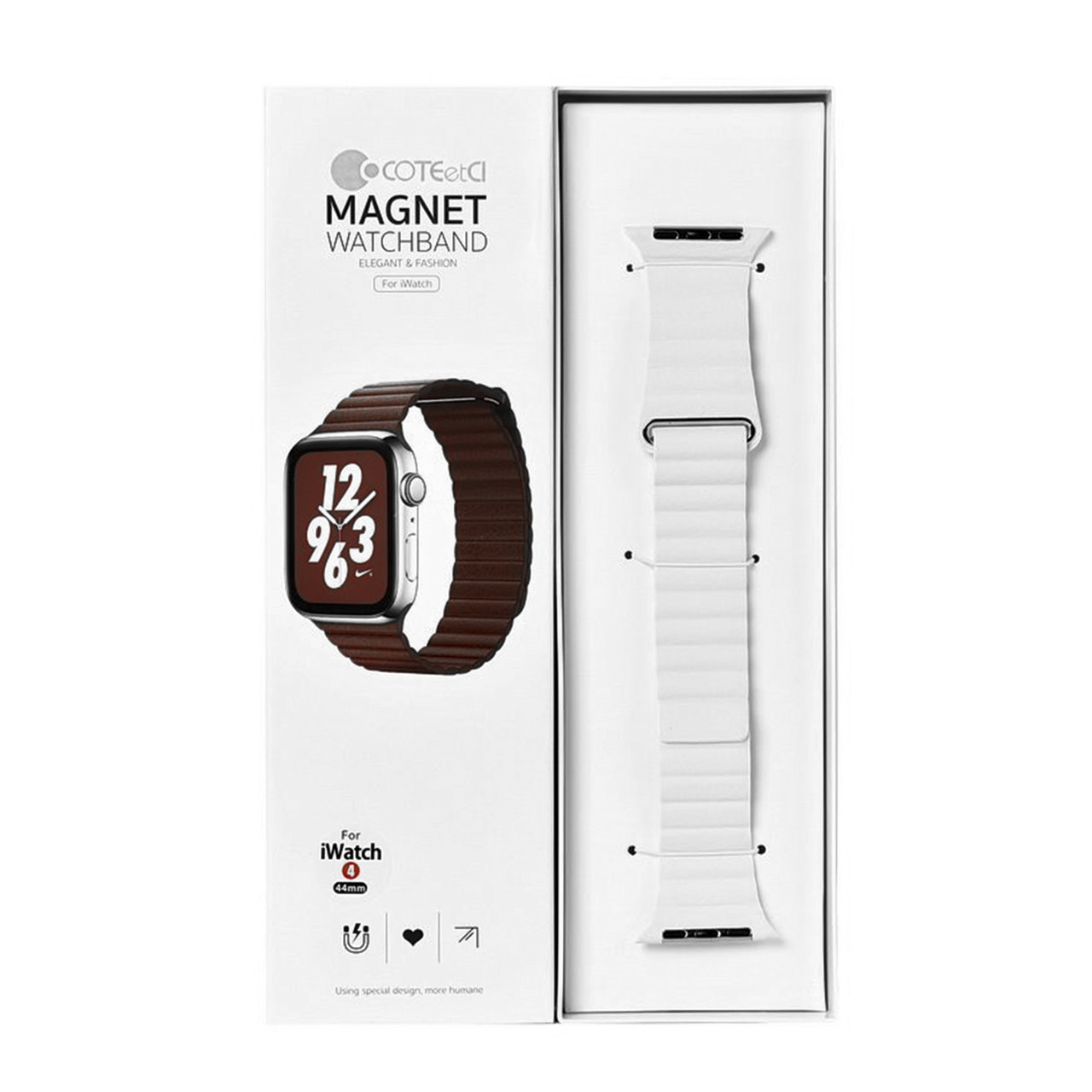 Ремешок For Apple Watch 42mm/44mm COTEetCI W7 WH5206-WH Magnet White
