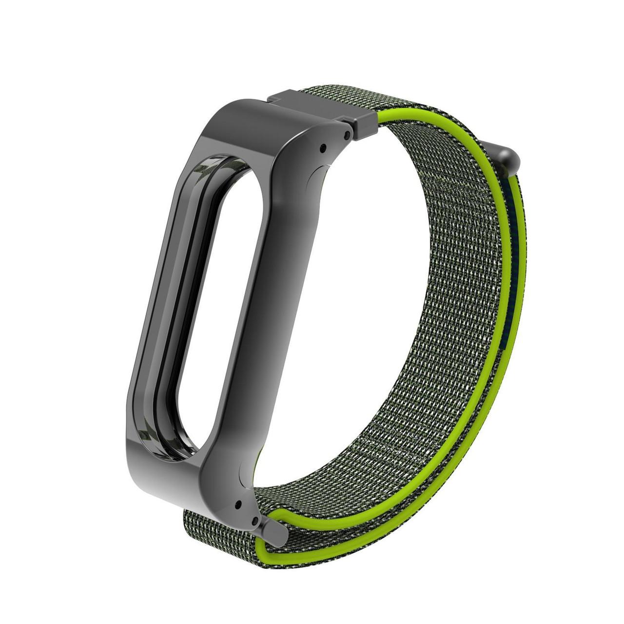 Ремешок для смарт-браслетов Xiaomi Mi Band 3, Cloth Green