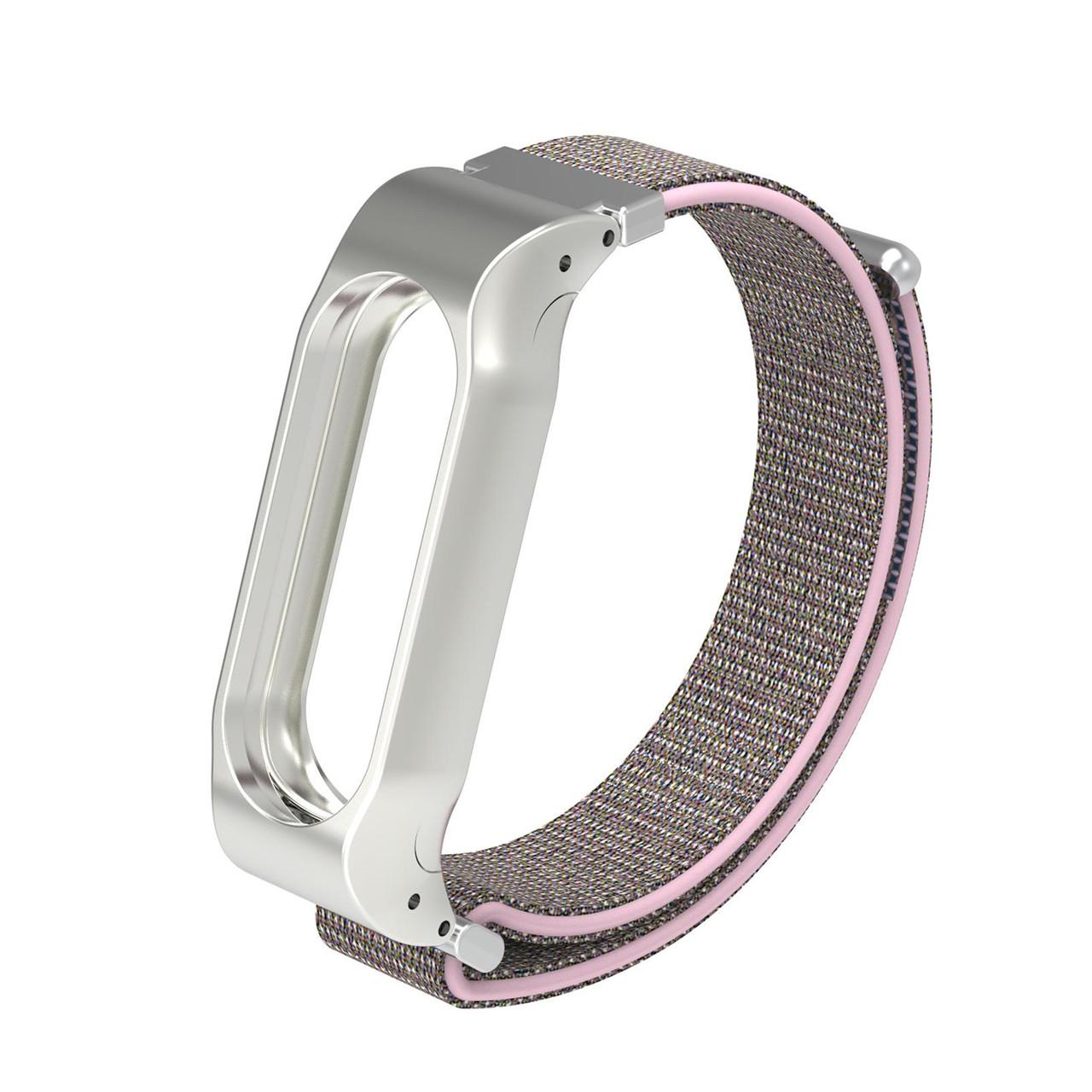 Ремешок для смарт-браслетов Xiaomi Mi Band 3, Cloth Pink