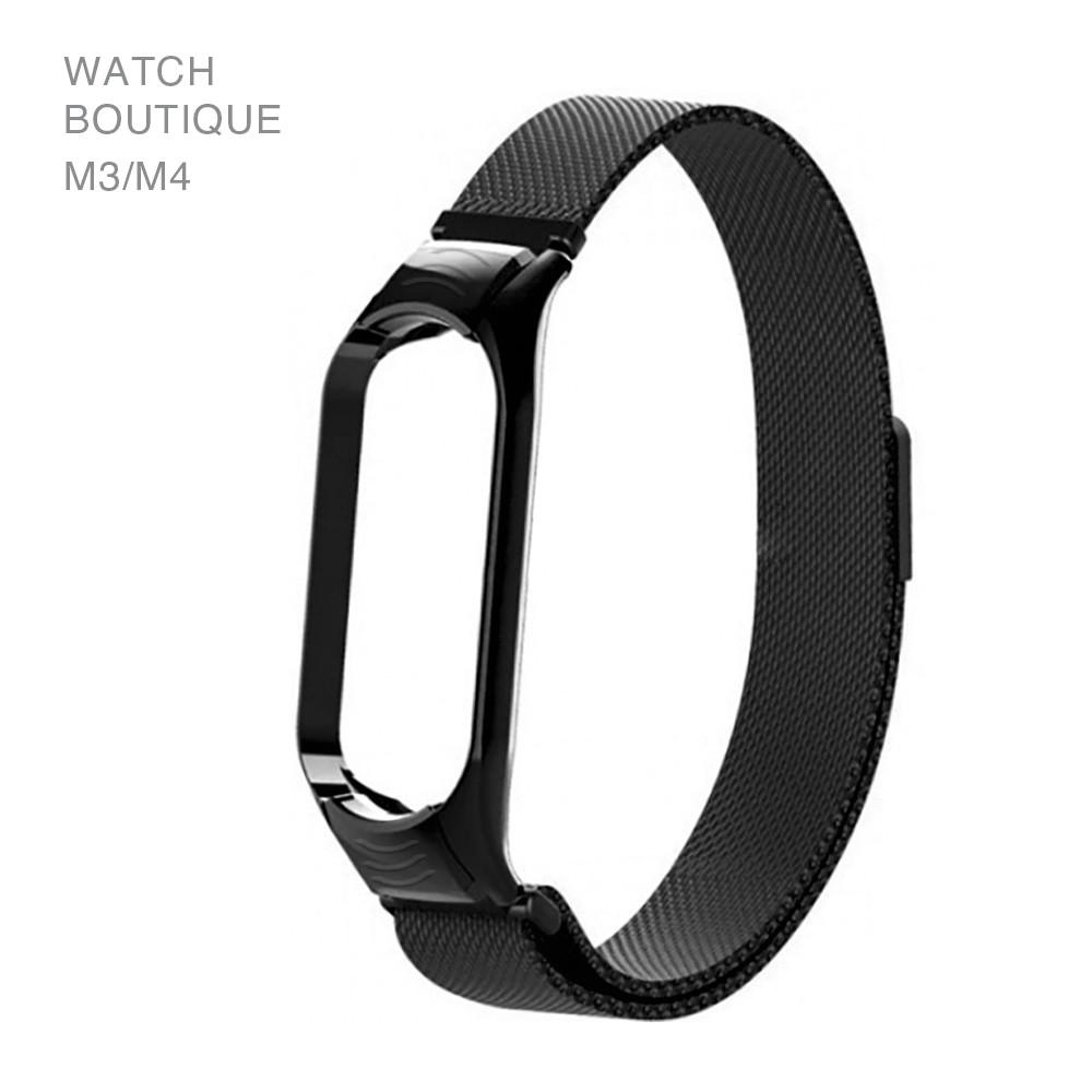 Ремешок для смарт-браслетов Xiaomi Mi Band 3/Mi Band 4, Copy Milan loop magnet, Black