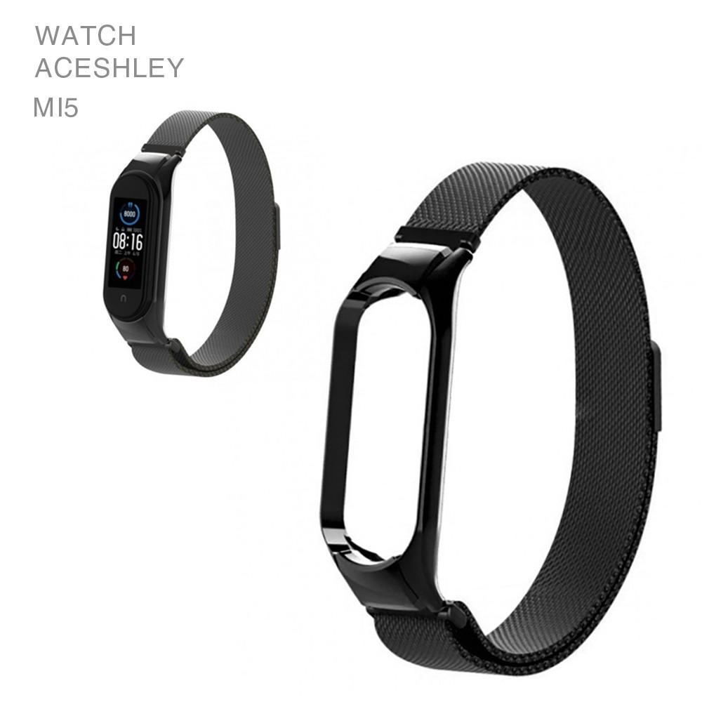 Ремешок для смарт-браслетов Xiaomi Mi Band 5, Copy Milan loop magnet, Black