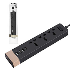 Сетевой фильтр Remax RU-S2 4xUSB 3 Power Socket Black