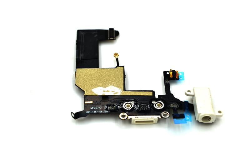 Шлейф Apple iPhone 5G с коннектором заряда и разъемом гарнитуры White (49)