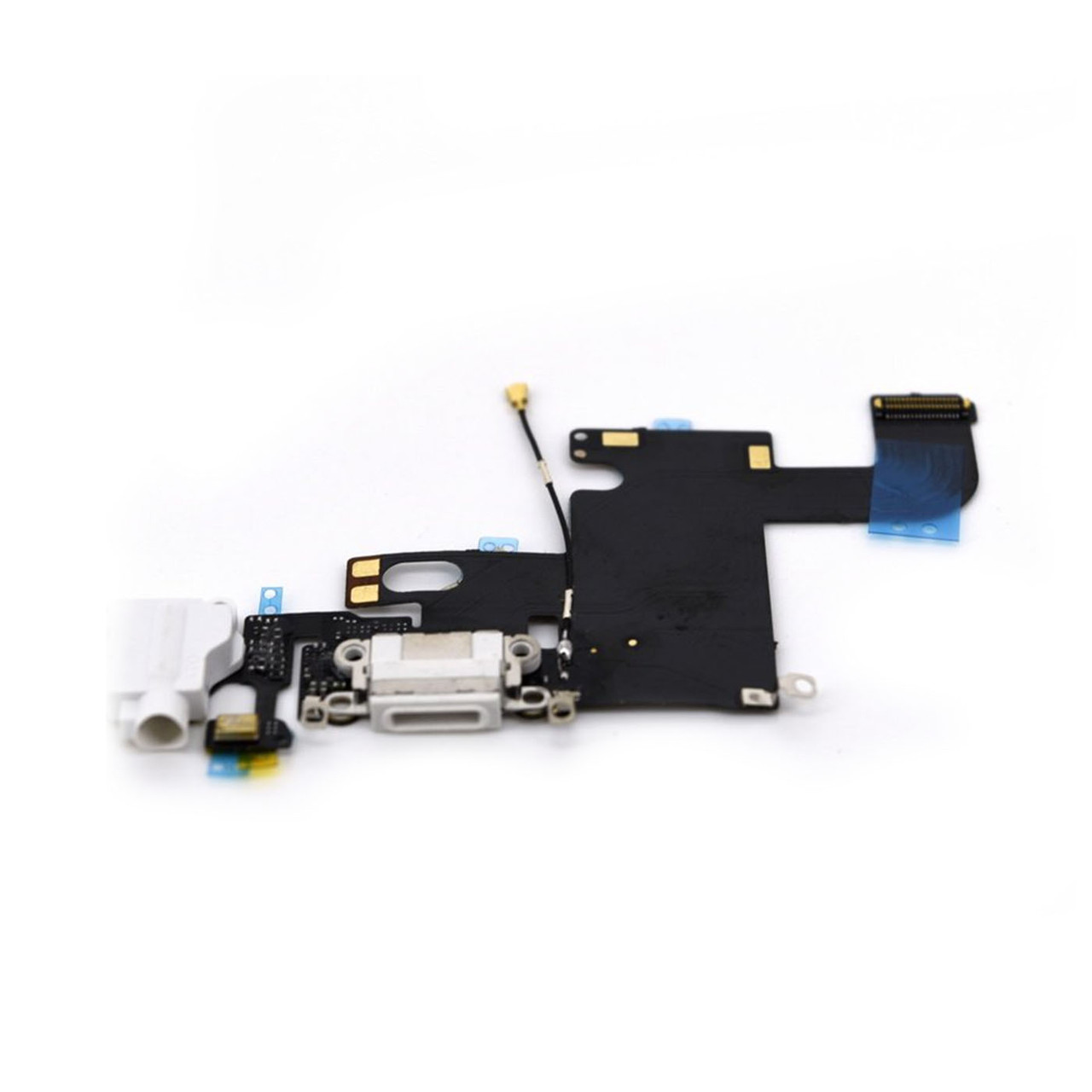 Шлейф Apple iPhone 6G с коннектором заряда и разъемом гарнитуры White (50)