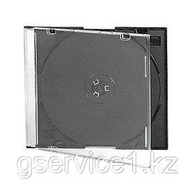 Slim Box Бокс для CD/DVD дисков ПРОЗРАЧНО-ЧЕРНЫЙ