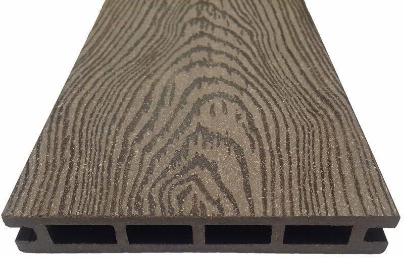 """Террасная доска из ДПК марки Holzhof с тиснением """"кольца дерева"""" 22*145*4000 (6000)мм"""