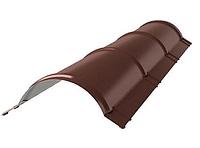 Планка конька круглого R 80х2000 мм Матовый Коричневый RAL 8017