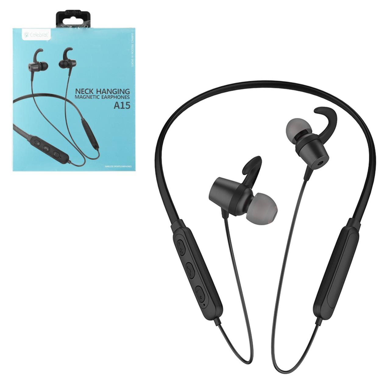 Bluetooth гарнитура Celebrat A15, Black