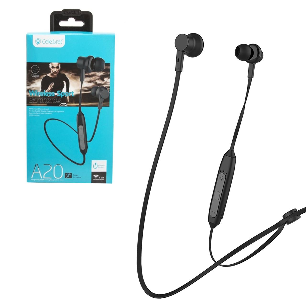 Bluetooth гарнитура Celebrat A20, Black