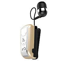 Bluetooth гарнитура Hoco E4 Retractable Clip-On Gold