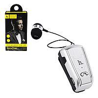 Bluetooth гарнитура Hoco E4 Retractable Clip-On Silver