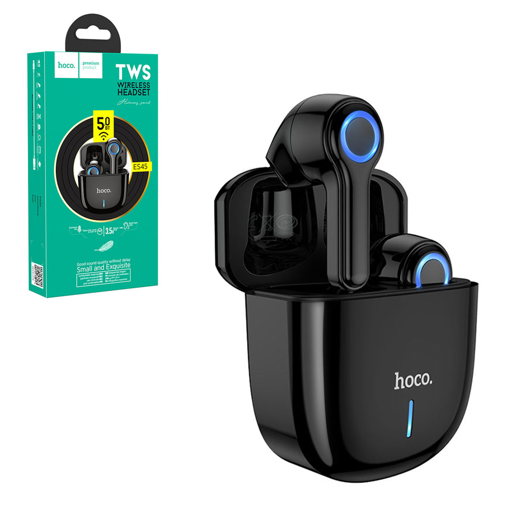 Bluetooth гарнитура Hoco ES45 Small and Exquisite True Wireless, Black
