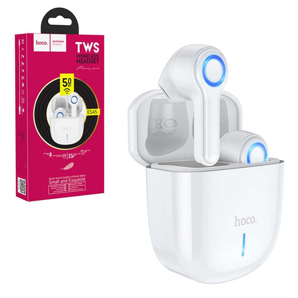 Bluetooth гарнитура Hoco ES45 Small and Exquisite True Wireless, White
