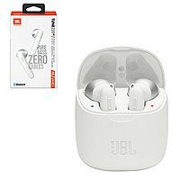 Bluetooth гарнитура JBL Tune220TWS Pure Bass Zero Cables, White