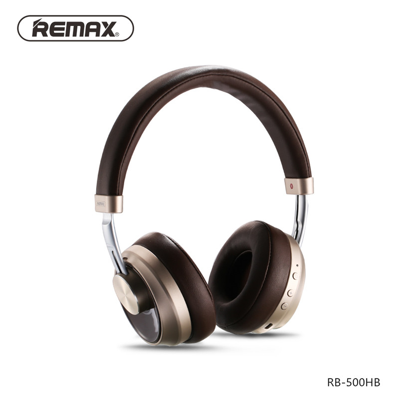 Bluetooth Гарнитура Remax RB-500HB Brown/Gold