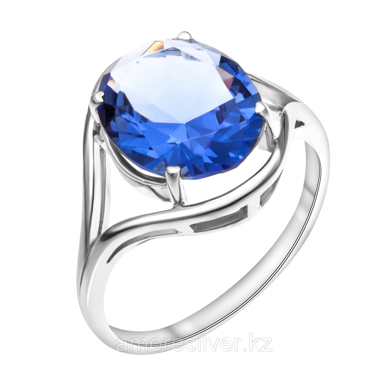 """Кольцо TEOSA серебро с родием, фианит, """"каратник"""" 100-935-TAN размеры - 19"""
