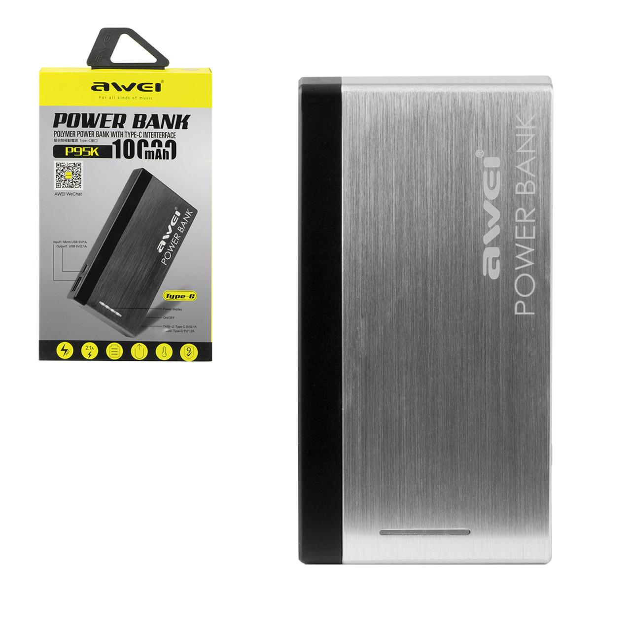 Power bank Awei P95K 10000 mAh 1XUSB 2.1A Gold/Black