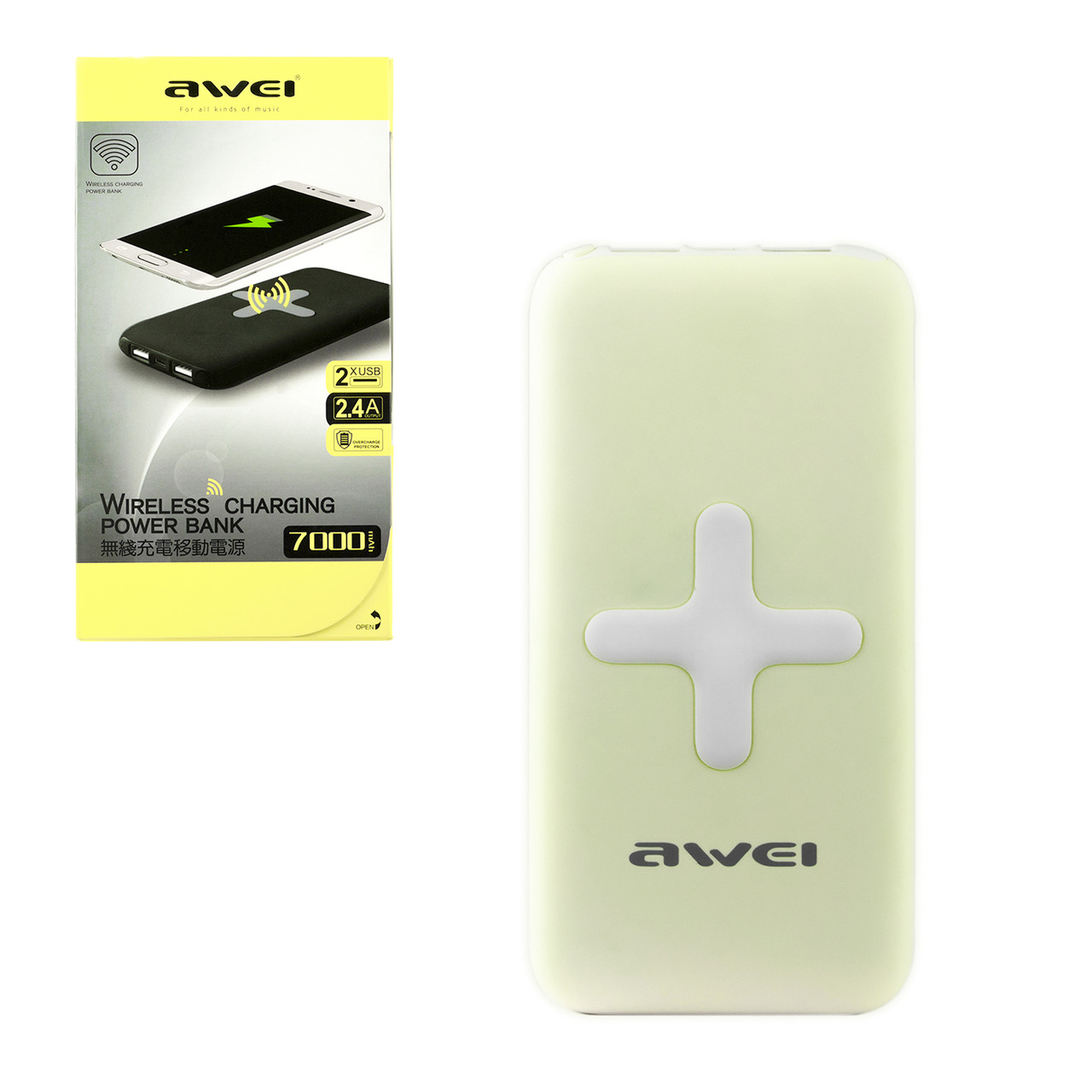 Power bank Awei PK98K 7000 mAh 2XUSB Green