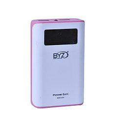 Power bank BYZ BS31 8400mAh 2XUSB White/Pink