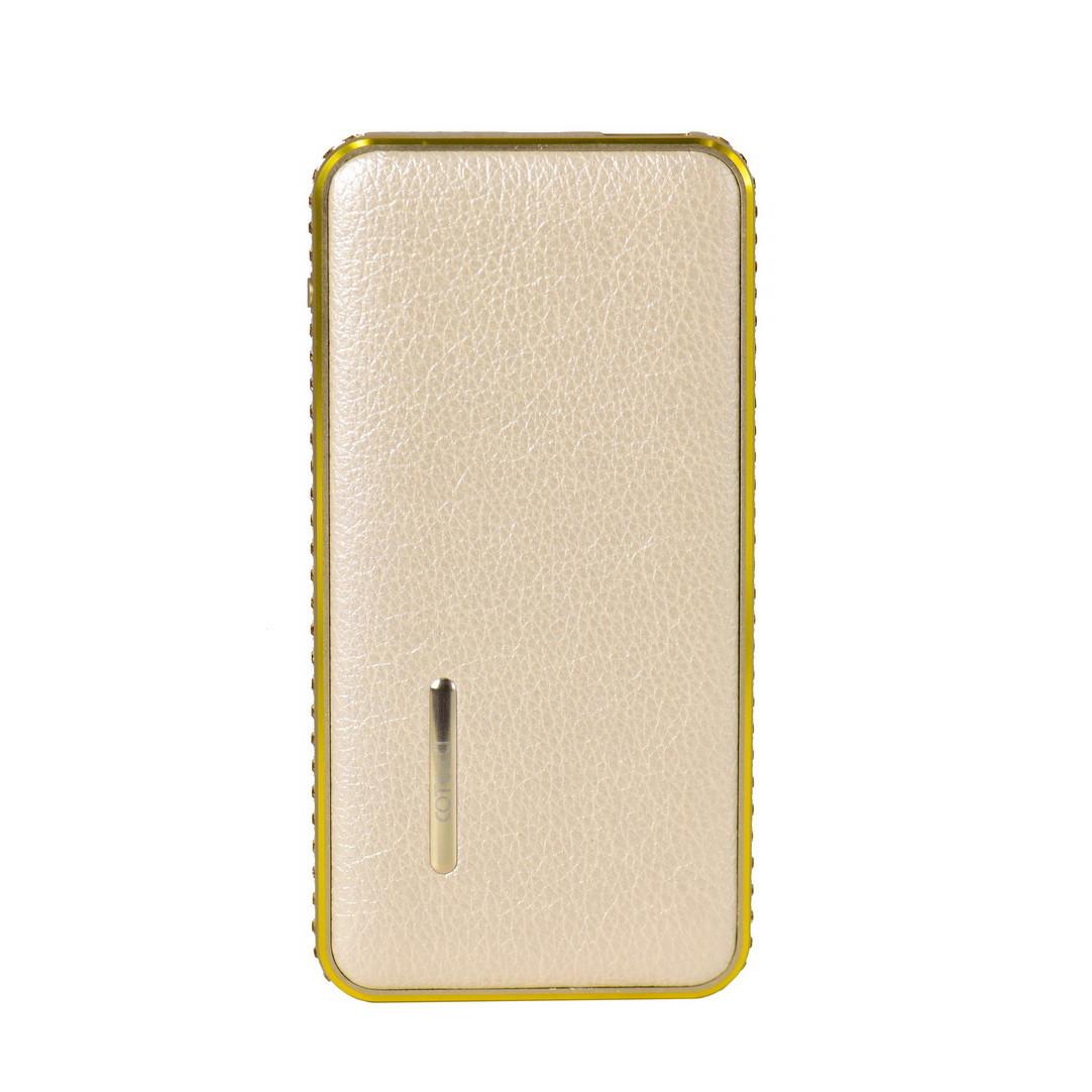 Power Bank COTEetCI CS5052-CEG 6000mAh 1XUSB Leather Diamond Gold